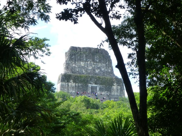 View of a Temple from the jungle